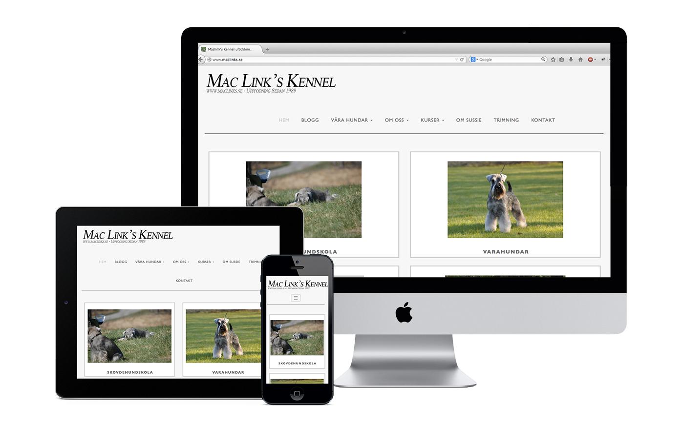 Triday har hjälpt Maclinks med responsiv design, WordPress, kontaktformulär med mera